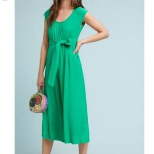 Anthropologie Abby Crop Jumpsuit Size 4 Green